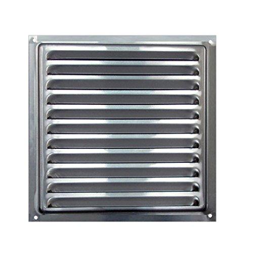 BarPan Ltd - Rejilla de Ventilación de aluminio anodizado con protector malla anti-insectos - 30 x 30 cm