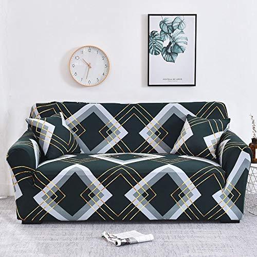 WXQY Fundas de sofá de Estilo Bohemio elástico Funda de sofá elástica protección para Mascotas Funda de sofá Esquina en Forma de L Funda de sofá Todo Incluido A24 1 Plaza