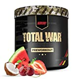 Redcon1 Total War - Pre Workout, 30 Servings, Boost Energy, Increase Endurance and Focus, Beta-Alanine, 350mg Caffeine, Citrulline Malate, Nitric Oxide Booster - Keto Friendly (Tigers Blood)