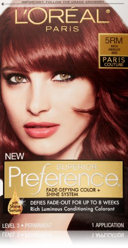 L'Oreal Paris Superior Preference Hair Color, 5RM Rich Merlot Red