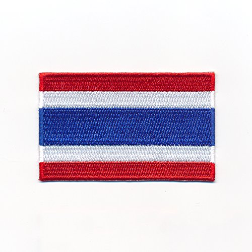 60 x 35 mm Königreich Thailand Flagge Bangkok Flag Aufnäher Aufbügler 0963 B