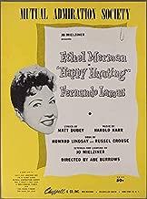 1956 MUTUAL ADMIRATION SOCIETY Dubey & Karr HAPPY HUNTING Ethel Merman SHEET MUSIC