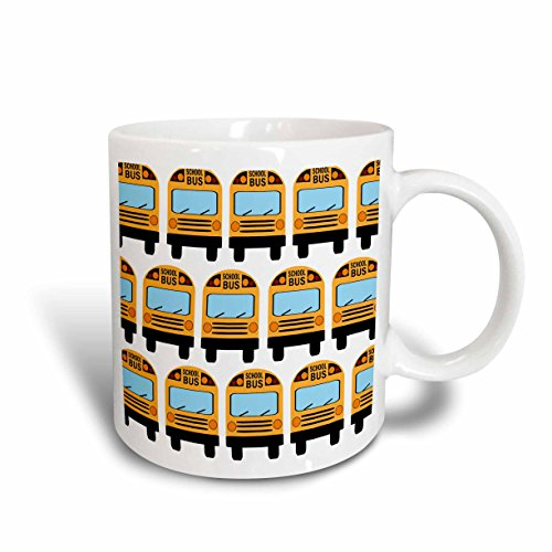 3dRose mug_183198_1 School Bus Ceramic Mug, 11-Ounce