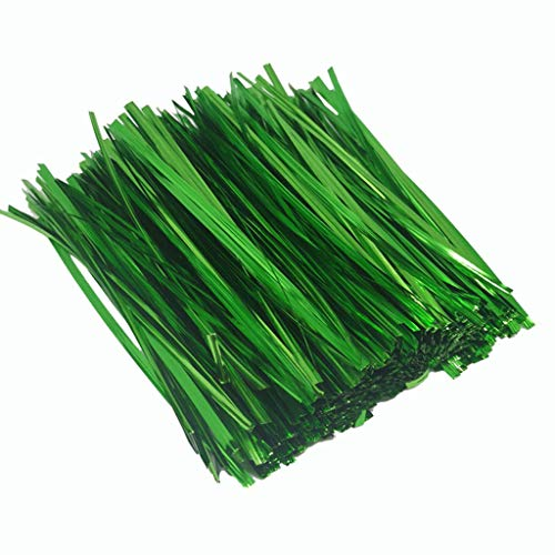 Aliturtle 800 Piece 6 Inches Iron Twist Ties, Green Plastic-Coated Bread Ties Ideal for Party Cello Gift Candy Favor Treat Bags Cake Pops Cello General Use and Garden Gardening Plant Wire Ties