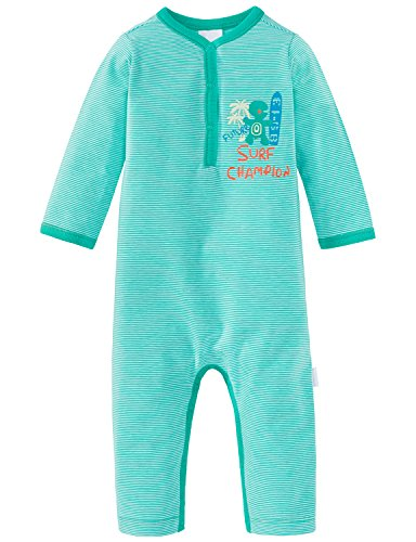 Schiesser Schiesser Baby-Jungen Anzug ohne Fuß Zweiteiliger Schlafanzug, Grün (Grün 700), 56