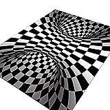 3D Visual Illusion Bedroom Carpet 3D Decoración de Halloween...