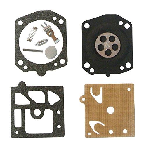 JRL Lot de 2 kits de reconstruction de carburateur pour Husqvarna 33 36 Rancher 40 51 55 360 370 K20-WAT