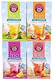 Teekanne frio 4er Pack - Pfirsich Maracua, Erdbeere Orange, Himbeere Zitrone und Limette Minze (4 x 45g)