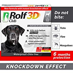 ✅NEW GERMAN FORMULA: MORE THAN 6 MONTH OF BEST PROTECTION-New German Technology gives you effective flea and tick prevention for dogs for 6 month! ✅3D PROTECTION FOR YOUR PET – effective against Fleas - larvae - Ticks and Mosquitoes. This flea collar...