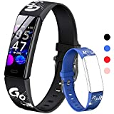 HOFIT Fitness Tracker For Kids, Fitness <span class='highlight'>Watch</span> Activity Tracker With Pedometers, Heart Rate & Sleep Monitor, Stop<span class='highlight'>watch</span>, IP68 Waterproof, Smart Band With 2 Interchangeable Wristband (Black)