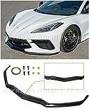 Extreme Online Store Replacement for 2020-Present Chevrolet Corvette C8 | GM Z51 Style Front Bumper Lower Lip Splitter (ABS Plastic - Primer Black)