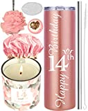 14th Birthday Gifts for Girl, 14 Birthday Gifts, Gifts for 14th Birthday Girl, 14th Birthday Decorations, Happy 14th Birthday Candle, 14th Birthday Tumblers, 14th Birthday Party Supplies