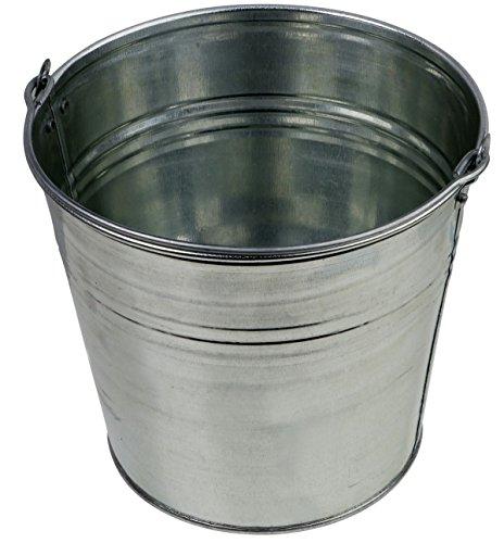 Zinkeimer Blecheimer verzinkt 5 Liter Wassereimer Metalleimer Eimer Dekoeimer (5 Liter)