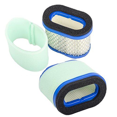 OuyFilters Ersatz für Luftfilter und Vorfilter-Reiniger für Briggs & Stratton 498596 690610 697029 5059h 4207 30-033 John Deere M147431 + 273356s Filter Vorreiniger
