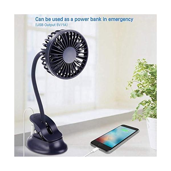 xwwnzdq-Ventilador-de-Cochecito-con-Mini-Clip-porttil-Configuracin-de-3-velocidades-USB-Flexible-Flexible-Batera-Recargable-con-Pilas-Ventilador-de-Escritorio-silencioso-de-35-cm-de-Alto