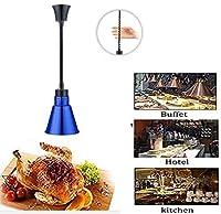 OESFL 食品ウォーマーランプ食品保温ランプシングルヘッド保温ランプ食品暖房ランプ調整可能な長さ調整可能な長さ60-150Cm伸縮ピザ暖房ランプ (Color : Blue)