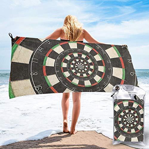 Darts Target Toalla de baño, toalla de gimnasio, toalla de playa, uso multiusos para deportes, viajes, súper absorbente, microfibra