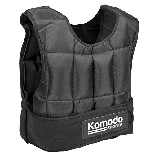 KOMODO Adjustable Weighted Vest 5-30KG Strength Training Gym Workout Fitness (20KG)