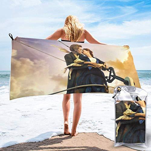 DaLaBengBa-shop Titanic Badetuch Schnelltrocknende weiche Strandbadetücher für Reisen Camping Yoga Gym Pool Strandstühle Badetuch 31,5 '' x63