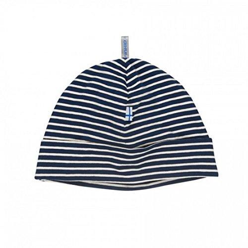 Finkid Hittili Bonnet en jersey pour enfant Bleu marine/blanc cassé - Bleu - 48