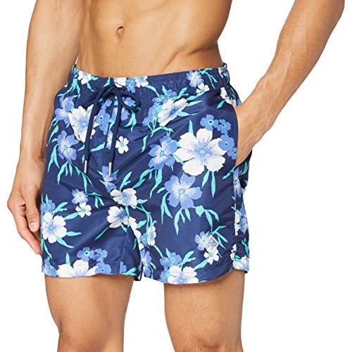GANT Herren Floral Swim Shorts Classic Fit Badehose, Blau (Persian Blue 423), Medium (Herstellergröße: M)