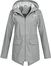 Outdoor Womens,Doric Waterproof Raincoat Outdoor Hooded Rain Jacket Windbreaker (S-5XL)