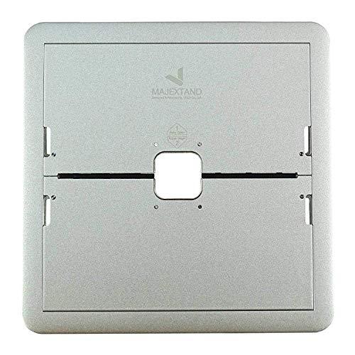 Innovativer, mobiler Laptop Stand 7-stufig verstellbar, extrem flach, Material Edelstahl, ideal für MacBook und iPad Pro oder Notebooks, in Silber