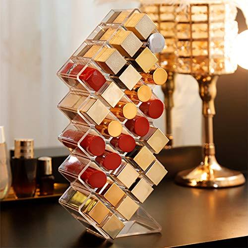 Organisateur De Rouge À Lèvres Maquillage Acrylique De Stockage De Beauté 28 Espace Pour Porte-Cosmétique Glaçure À Lèvres Conçu Pour Rechargeable