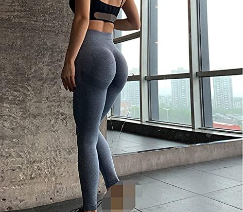 Leggings Cintura Alta Para Mujer,Leggings Deportivos Para Mujer, Pantalones De Yoga, Color Azul Polvoriento, Leggings Sin Costuras Para Mujer, Con Efecto De Levantamiento De Cadera, Mallas De Yoga E