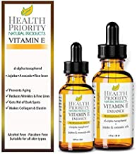 100% Natural & Organic Vitamin E Oil For Your Face & Skin, Unscented –..