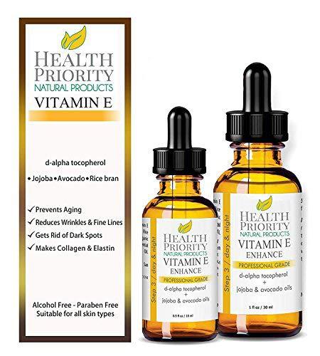 100% Olio alla Vitamina E Naturale & Biologico per il viso e la pelle....