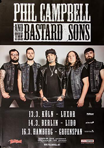 Phil Campbell - The Bastard Sons, Tour 2019 » Konzertplakat/Premium Poster   Live Konzert Veranstaltung   DIN A1 «