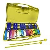 Xilófono Glockenspiel Xilófono Colorido De 25 Notas con Estuche Xilófono Cromático con Dos Martillos Instrumento Musical Educativo para Niños Pequeños