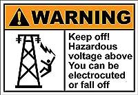 Keep Off Hazardous Voltage Above ティンサイン ポスター ン サイン プレート ブリキ看板 ホーム バーために