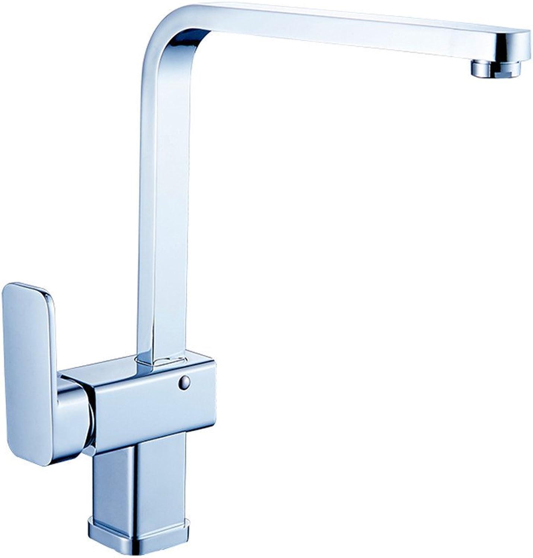 Bijjaladeva Wasserhahn Bad Wasserfall Mischbatterie Waschbecken Waschtisch Armatur für BadezimmerKupfer Küche Wasserhahn und Kaltes Wasser Kann Sich Drehen Bassinplatz