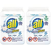 67-Count All Mighty Pacs Laundry Detergent Clear for Sensitive Skin (134 Loads)