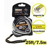 Finder Magnetic Tape Measure, Measuring Tape Self Lock 25-Foot (7.5 Meter) Metric