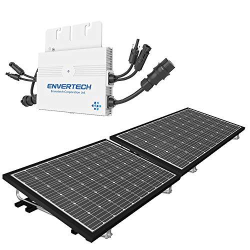 Mini Solaranlage 600 Watt Solarstrom für Eigenverbrauch | Plug & Play Komplettset | Montagematerial für Flachdach | solar-pac PV