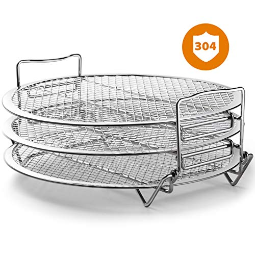 Save %13 Now! Goldlion Dehydrator Rack Compatible with Ninja Foodi Grill Stainless Steel Stand Acces...