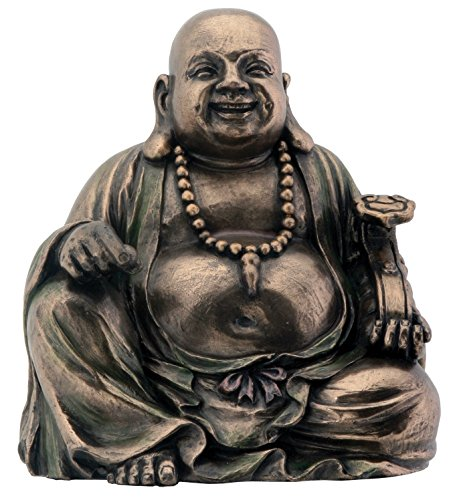 Bronze Hotei Buddha Laughing Buddhism Figurine Decoration