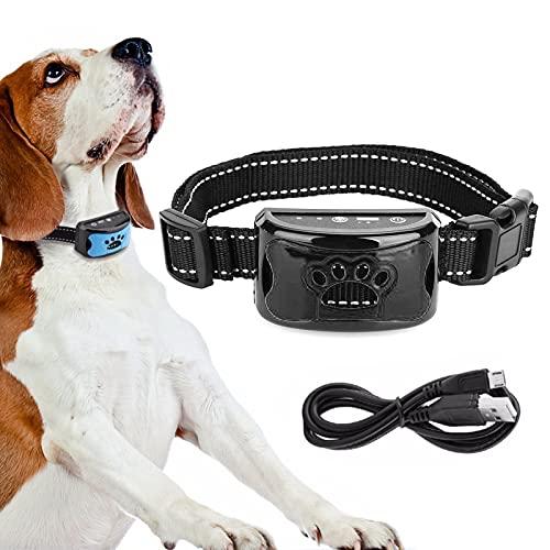 Automatisches Anti Bell Halsband, Hundepfeifen, Erziehungshalsband Hund ,Wasserdicht Anti-Bell-Halsbänder No-Schock Geeignet für große Hunde, mittlere Hunde, kleine Hunde