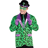 Suit Yourself Riddler Jacket for Adults, Batman Halloween Costume, One Size up to Men's 40-42, Featuring Purple Lapels