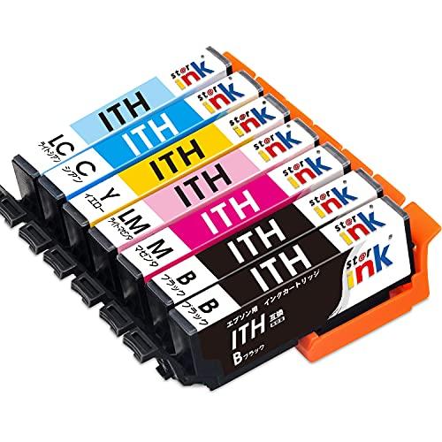 エプソン ITH 7色セット EPSON 互換 インク カートリッジ ITH-6CL + ITH-BK 1本 イチョウ インク starink