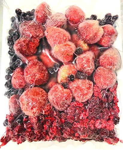 オーガニック冷凍スリーベリー(有機いちご、有機ブルーベリー、有機ラズベリー)1000g【消費税込み】 冷凍有機ミックスベリー