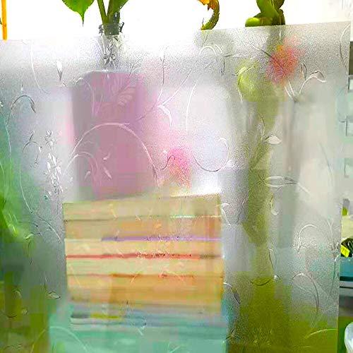 LMKJ Etiqueta engomada de la Ventana de privacidad Etiqueta engomada de Vidrio de película de Ventana esmerilada Decorativa Opaca, autoadhesiva, para baño Oficina en casa A77 40x100cm