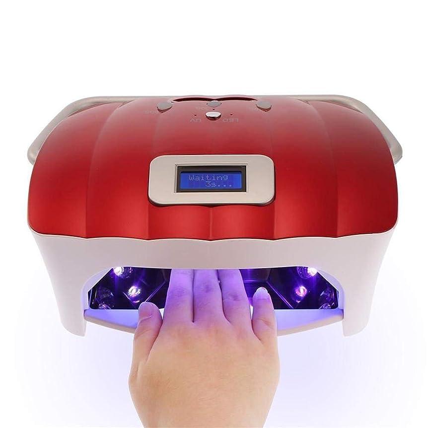 鋼販売計画社員54ワットled uvネイルランプネイルドライヤーライト機でhandprpr professionalプロフェッショナル指爪&toenail uvジェル硬化ネイルマニキュアツール