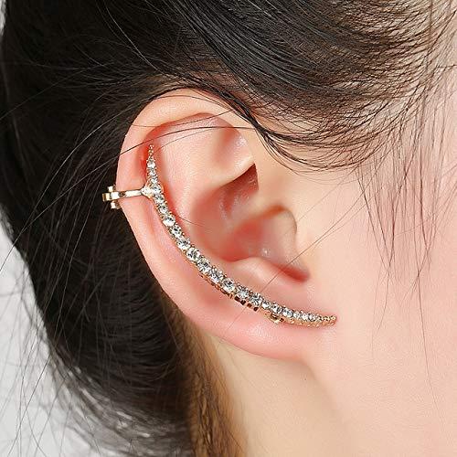 Aretes Ear Sweep Wrap Silver Gold Ear Climber Gran Ear Clip Cuffs Leafs Pendientes Joyas Para Mujer Ear Clips PendienteOreja Derecha Oro