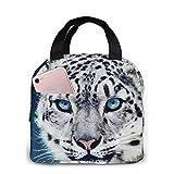 Fiambrera Portables Blue Eyed Snow Leopard para Mujeres Hombres