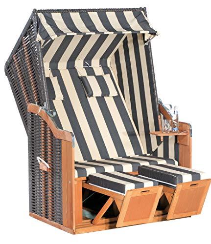 Sonnenpartner Strandkorb Rustikal 50 Plus 70318302 Sonneninsel 2 Sitzer Lounge