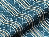 Möbelstoff BELVEDERE CLASSIC Streifen Ornamente Farbe blau